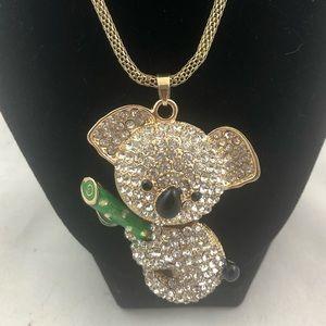 JTV OFF PARK Koala Bear Pendant & Gold Chain